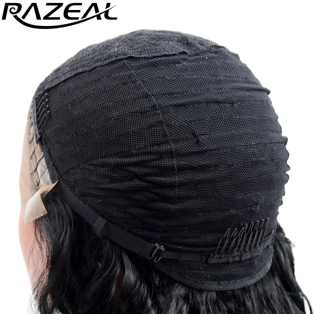 Razeal naturlig blick ljus blont silkeslen rak peruk med avskiljning - Syntetiskt hår - Foto 6