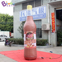 HOT SALES customized item 3hm inflatable Joy bottle decoration customized printing for advertising in shop etc