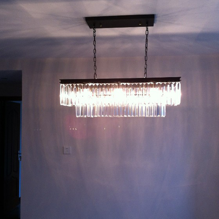 Modern Crystal Pendant Light Fixture Rectangle Crystal Hanging Lamp Popular Crystal Drop Lamparas Lving room Hotel Project CafeModern Crystal Pendant Light Fixture Rectangle Crystal Hanging Lamp Popular Crystal Drop Lamparas Lving room Hotel Project Cafe