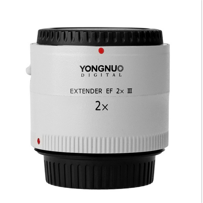 Original Yongnuo Lens YN-2.0X III PRO 2x Teleconverter Extender Auto Focus Mount Lens Camera Lens for Canon EOS EF Lens