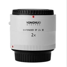 Lente Original Yongnuo YN-2.0X PRO III Teleconvertidor 2x Extender Montaje de Enfoque Automático Lente Lente de la Cámara para Canon EOS EF Lente