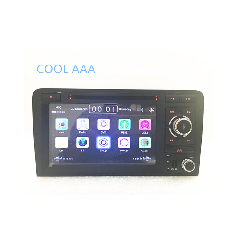 wholesale 2din car radio dvd gps player for audi a3 s3 2004 2008 car radio stereo with bt ipod. Black Bedroom Furniture Sets. Home Design Ideas