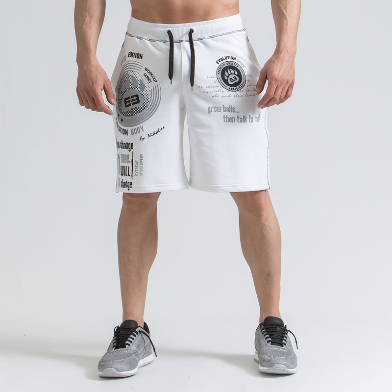 2018 New Men cotton shorts Calf-Length gyms Fitness Bodybuilding Fashion Casual Man Jogger workout Loose short pants Sweatpants
