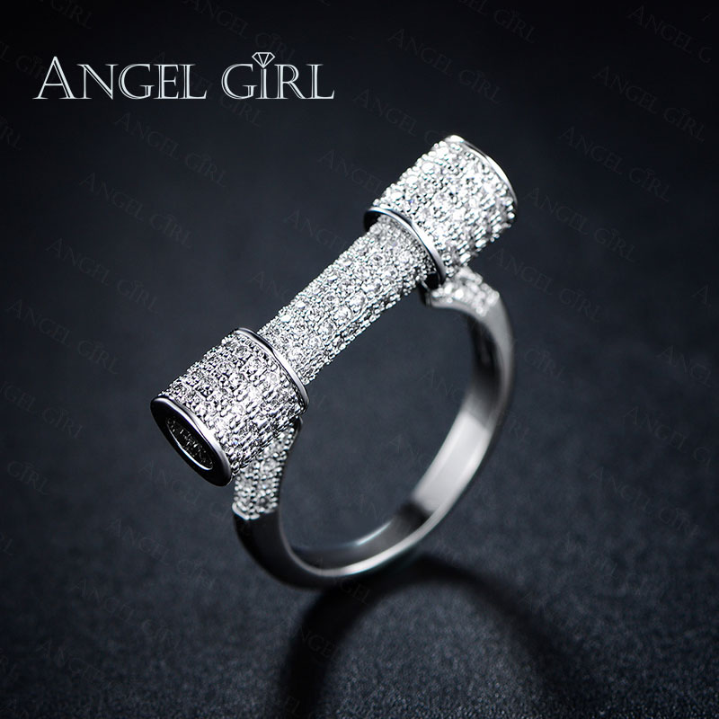 Angel Girl AAA+ CZ White Gold Plated wedding rings
