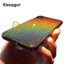 Essager Colourful Case untuk iPhone X 8 7 6 6 S Plus Mewah Chameleon Glitter Case untuk iPhone 10 cover Hard PC Case Coque(China)