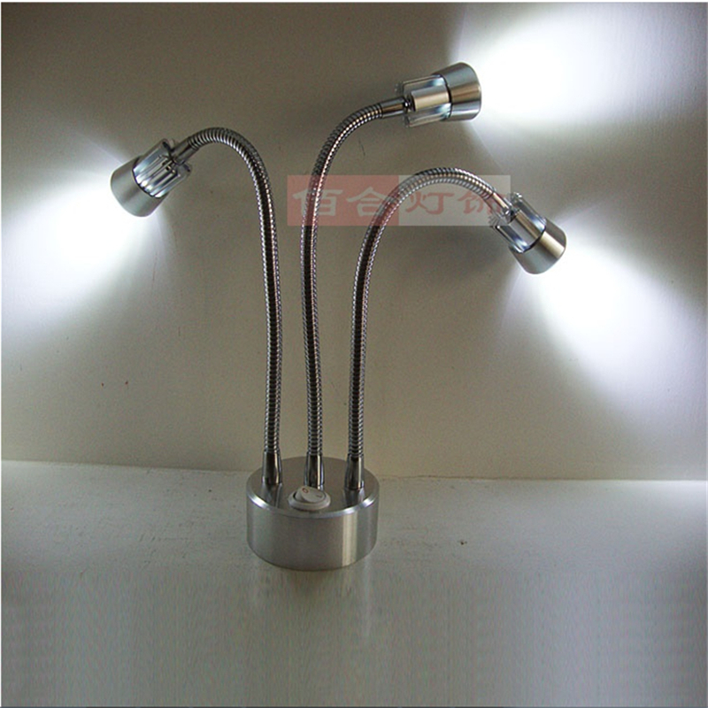 3 års garanti 3 * 1/3 * 3W laddningsledd spotlampa, laddningsbart - LED-belysning