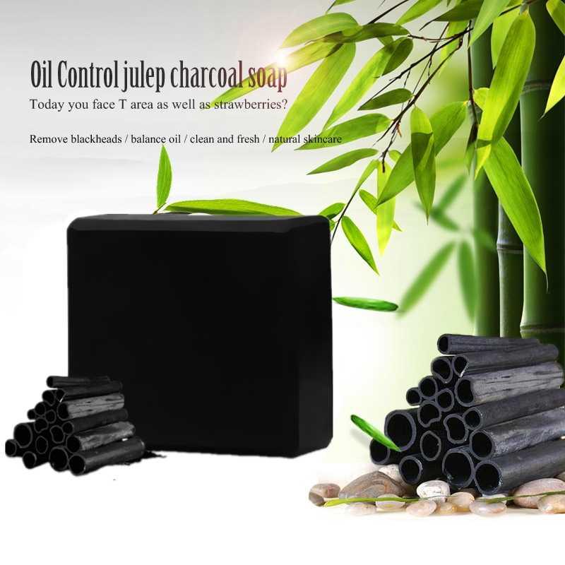 Noir bambou charbon de bois savon visage propre nettoyage en profondeur blanchiment Maquiagem fait à la main soins de la peau bain corps enlèvement huile beauté