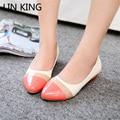 LIN REY Dulce Arco Iris Low Top Zapatos de Las Mujeres Señaló Dedo Del Pie Perezoso mocasines de Tacón Bajo Zapatos de Los Planos Individuales Ocasionales de Ocio Zapatos de Enfermera Mamá