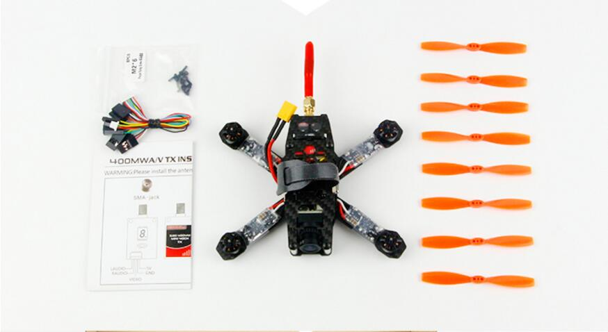 KINGKONG 130GT PNP Drone No Receiver Carbon Fiber Frame+F3 PLUS+1105 Motor+Blheli-6A ESC+3020 Props+800TVL Camera+5.8G VTX drone with camera rc plane qav 250 carbon frame f3 flight controller emax rs2205 2300kv motor fiber mini quadcopter