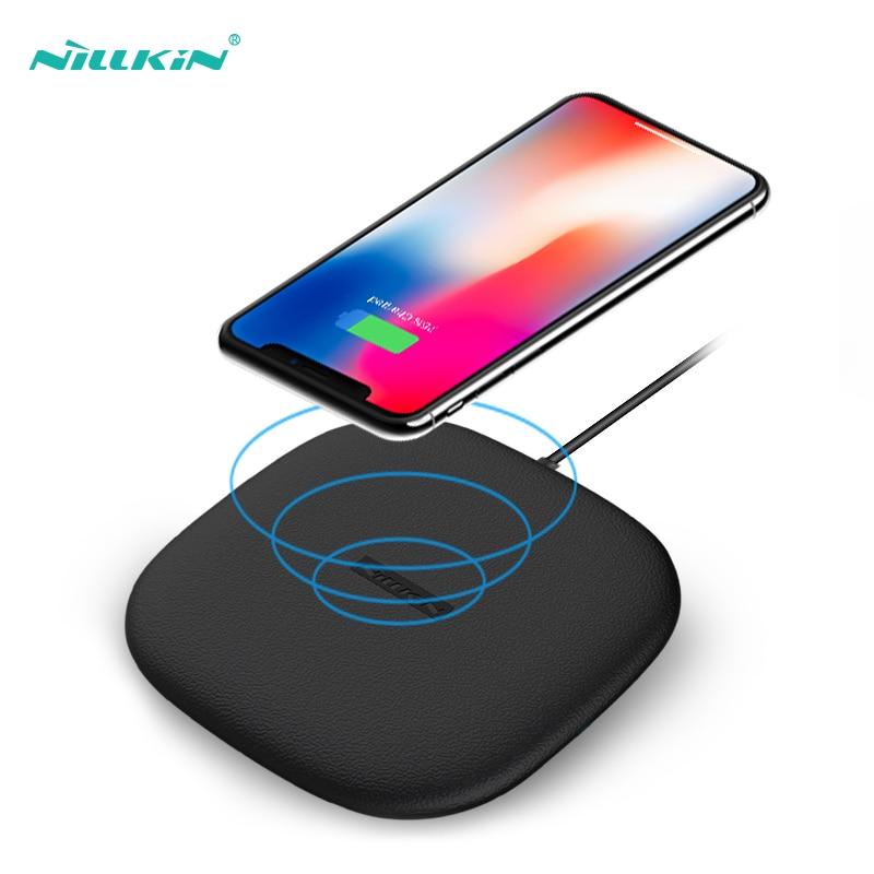 10 W rápido inalámbrico cargador nillkin Qi rápido almohadilla de carga inalámbrica de silicio fino para iPhone X/8/8 Plus para Samsung S10/ s9/nota 8/S8