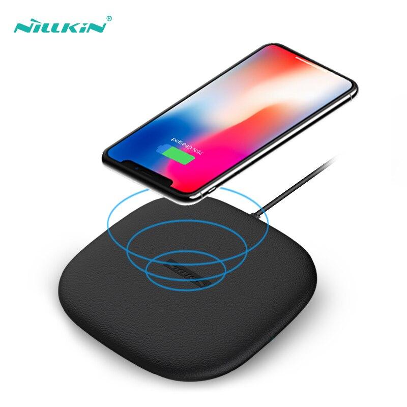 10 w Veloce Caricatore Senza Fili, nillkin Qi Wireless di Ricarica Pad Sottile Del Silicone per il iphone X/8/8 Plus Per Samsung S9/ nota 8/S8/S8 +
