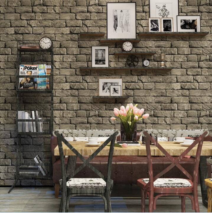 3D brown brick wall mural wallpaper roll Living room bedroom brick background wallpaper book knowledge power channel creative 3d large mural wallpaper 3d bedroom living room tv backdrop painting wallpaper
