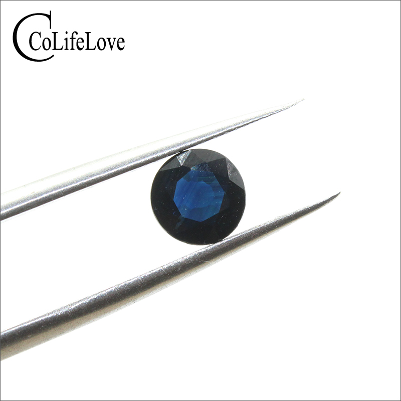 100% natural sapphire gemstone 1.2 ct 6.4 mm real dark blue sapphire loose stone without any treatment natural sapphire gemstone loose stone from chinese biggest sapphire mine dark blue natural sapphire loose gemstone