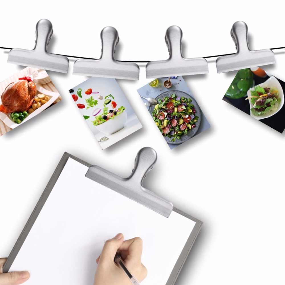 Food Storage Stainless Steel Chip Bag Clips 2/3/4 inch width Durable selladora de bolsas plasticas kitchen food clip #007