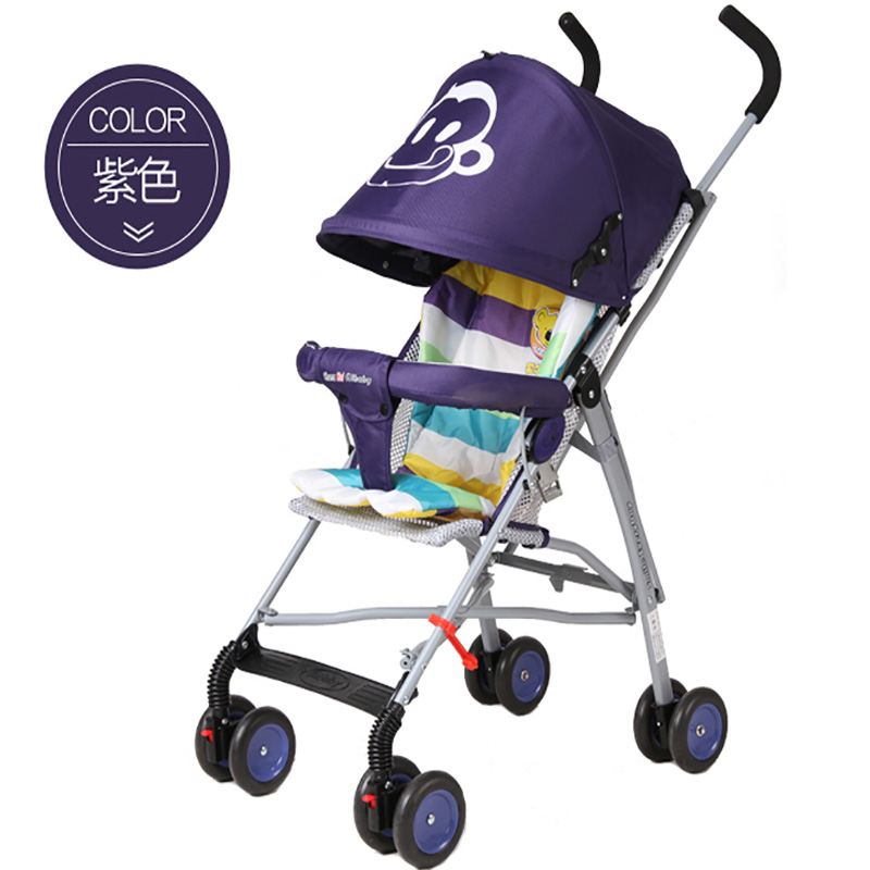 Baby stroller portable ultra-light child trolley summer folding child umbrella car simple baby car umbrella