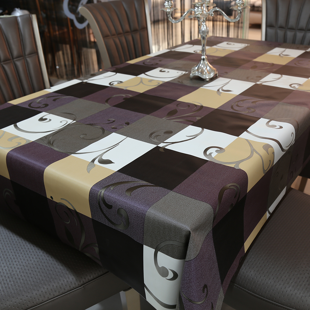 PVC Tablecloth Waterproof Oilproof Table Covers European Style Printed Table Cloth Home Decoration
