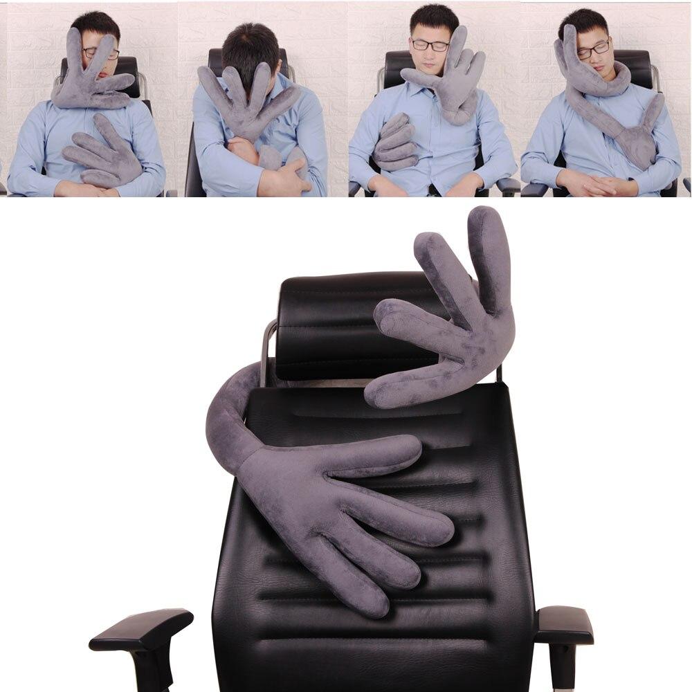 Main forme oreiller avion multi-fonction voiture oreiller cou confortable mémoire bureau oreillers tête pour voyage