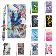 3D Painted Wallet Cover For Nokia 2 3 5 6 8 2017 Flip Book Stent Shell For Nokia 6 (2018) 6.1 7 plus 8 Sirocco 2018 Phone Case wierss золото для nokia 8 sirocco
