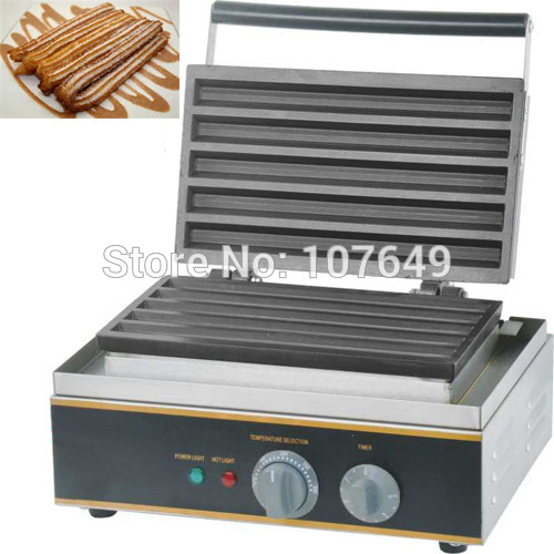 Free Shipping to USA/Canada/Japan/Mexico 110V 220V Non-stick Electric Commercial Churros Machine Maker Iron Baker free shipping to usa canada japan mexico 110v electric commercial use non stick square waffle machine maker iron baker