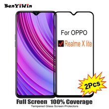 "2PCS Full Cover Screen Protector Tempered Glass For OPPO Realme X lite 6.30"" 9H Protective glass For Realme x lite Film Case"