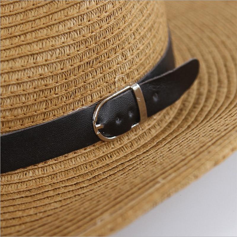 Xincai Flat-top-strohhut Sommer Frühling Frauen Reise Caps Strand Sonnenhüte Atmungsaktive Mode Faltbare Krempe Stroh Im Freien Hut Bekleidung Zubehör