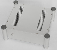 WA113 Silver amplifier chassis Preamplifier Tube amplifie case AMP Enclosure All aluminum DIY box ( 320*120*280mm)