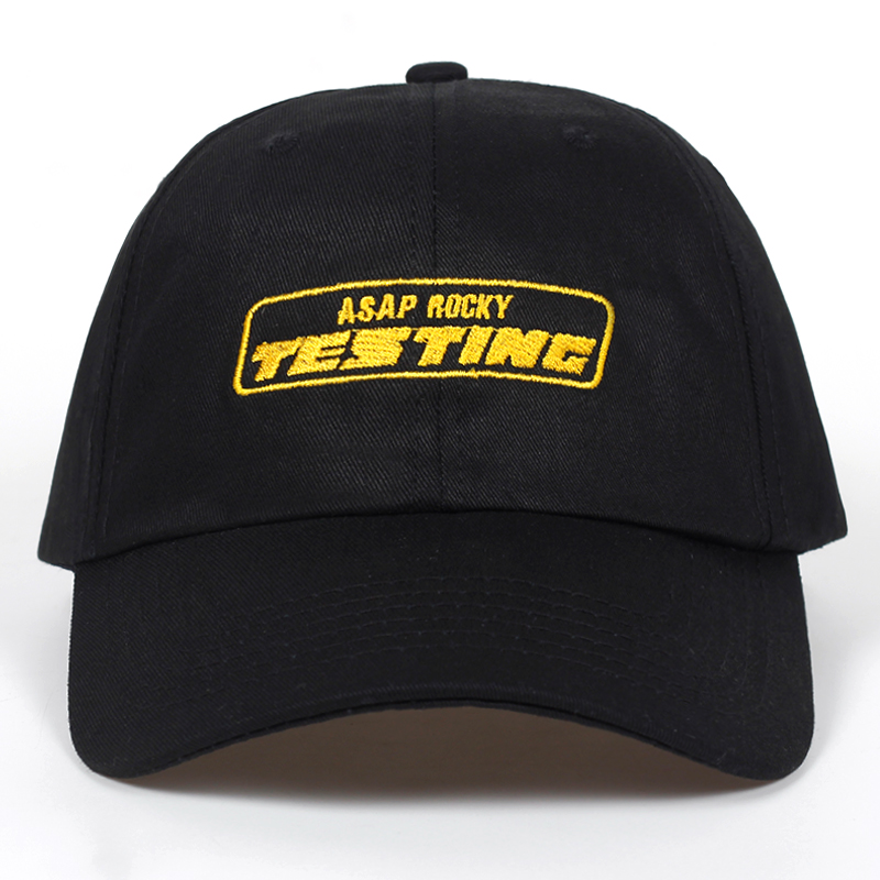 2018 New Album ASAP ROCKY TESTING Embroidery   Baseball     Cap   Women Snapback Hat Adjustable   Cap   Men Fashion Dad Hats Wholesale