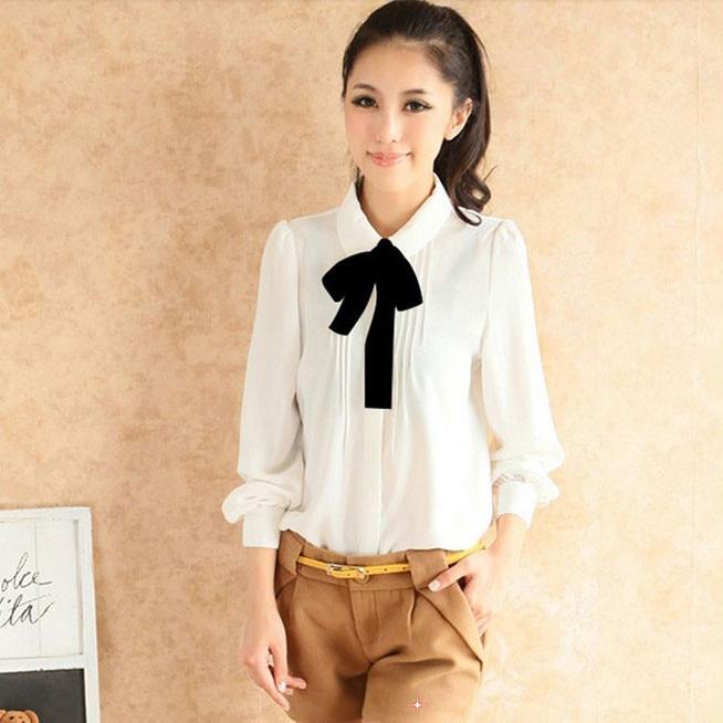 Online Shop Fashion 2013 Full Sleeve Peter pan collar Women ...
