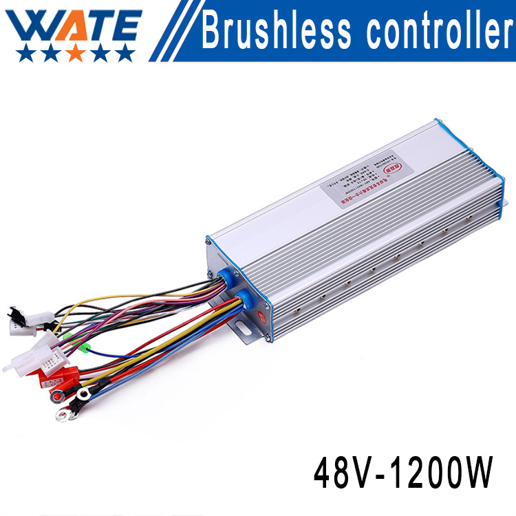 ФОТО Silver car battery 48V1200W intelligent brushless motor electric vehicle controllers, 60Vcontroller accessories electric scooter