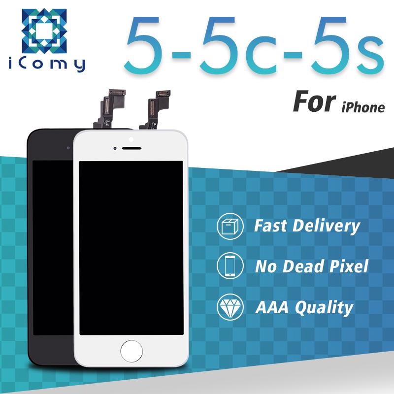 Prix pour Aaa + + qualité pantalla lcd pour iphone 5s 5c 5g lcd affichage avec écran tactile Digitizer Assemblée Remplacement 100% Test un par un