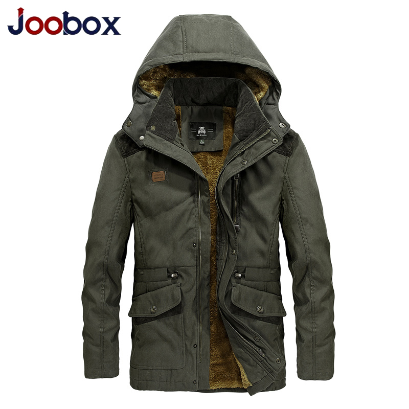 Brand  Army Military Parka men Winter Warm Thick Mens Down Jackets and Coats black Wool Liner Hooded Collar Winter Jacket Men