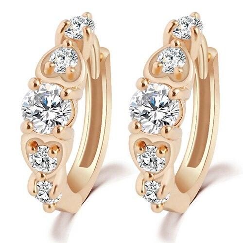 d710f64754 Fashion Girl's Shinny Jewelry Glittering Heart Rhinestones Crystal Earrings  -in Stud Earrings from Jewelry & Accessories on Aliexpress.com | Alibaba ...