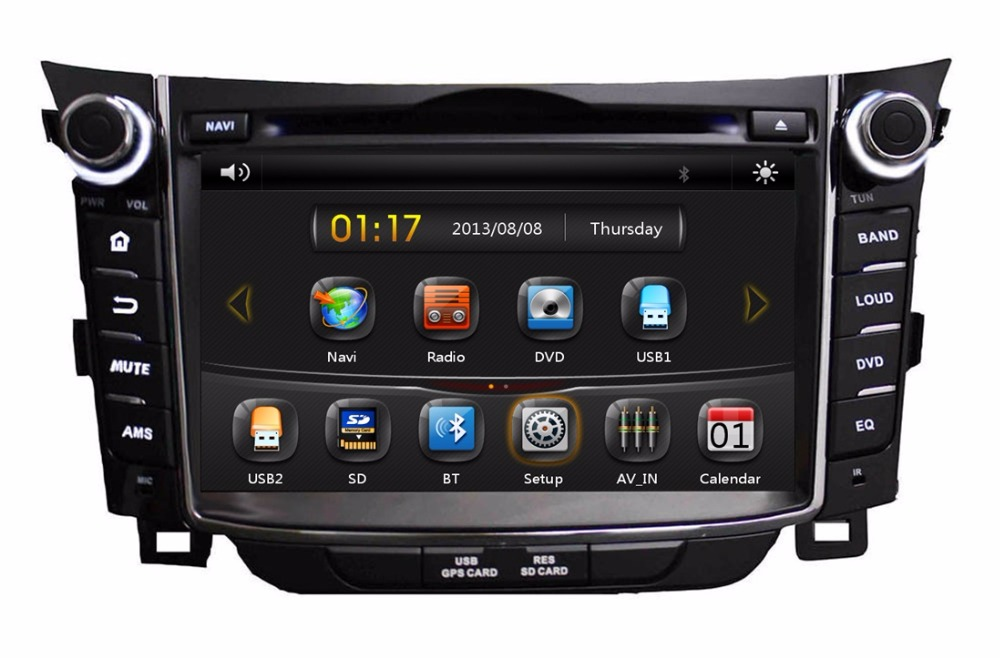 hd 2 din 7 car dvd gps navigation for hyundai i30 2011. Black Bedroom Furniture Sets. Home Design Ideas