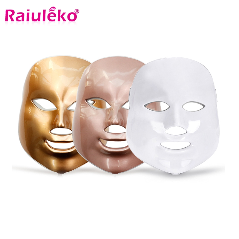 New LED 7 Color Light Photon Therapy Beauty Mask Skin Rejuvenation Facial PDT Skin Care Anti Acne Salon Home Use Beauty Spa