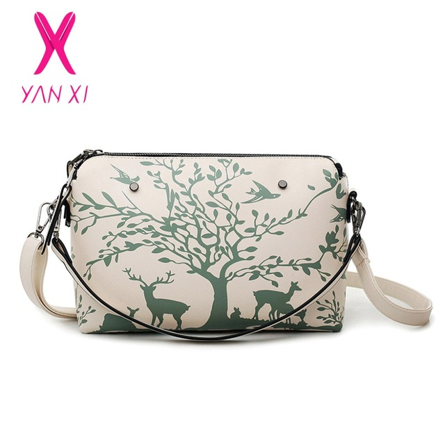 YANXI 2016 Factory Outlet Handbag Women Bag High Quality PU Shoulder Bag Messenger Bag Fashion Casual Animal Pattern Shell Bag