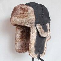 Men Women Thick Bomber Hats Cotton Winter Warm Biker Hats Ear Caps Earflap Faux Fur Adult Solid Fluffy Hat Russian Waterproof