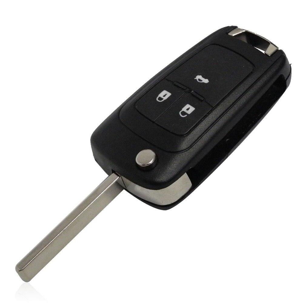 Flip Folding Key Shell for Chevrolet Cruze Remote Key Case Keyless Fob 3 Button Uncut HU100 Blade for Chevrolet LOGO included new remote key fob 3 button 433mhz id83 for mazda cx 5 ske13e 01 uncut blade