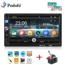 Podofo 2din автомобильный Радио 7 «сенсорный мультимедийный видео плеер MP5 Авторадио Bluetooth Авто Стерео FM AUX USB SD mirrorlink сабвуфер