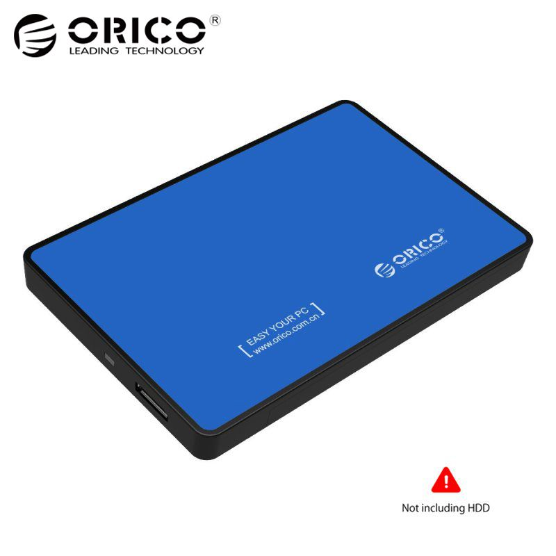 ORICO 2588US3 SATA HDD SSD USB3.0 External Hard Disk Drive Box Storage Case Enclosure 5GBPS for 2.5 Inch Windows Laptop PC Blue orico mini msata ssd enclosure aluminum 5gbps high speed hdd case for laptop desktop for windows linux mac with screw fixing