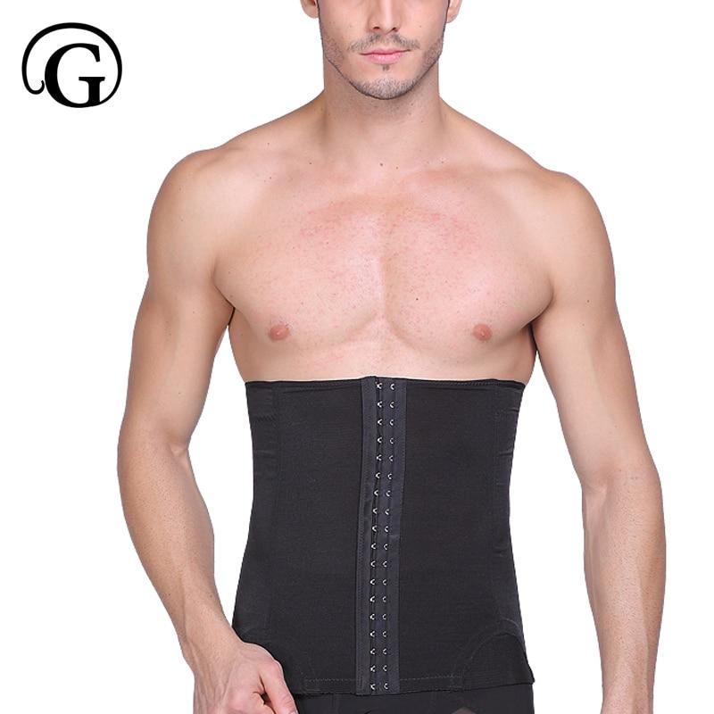 Men Slimming Waist girdle hook confirm belly belt tummy trimmer waist Cincher Corset wrap abdomen control girdle