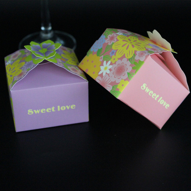 Free Shipping Flower Candy Box Gift Boxes Birthday Party Kids