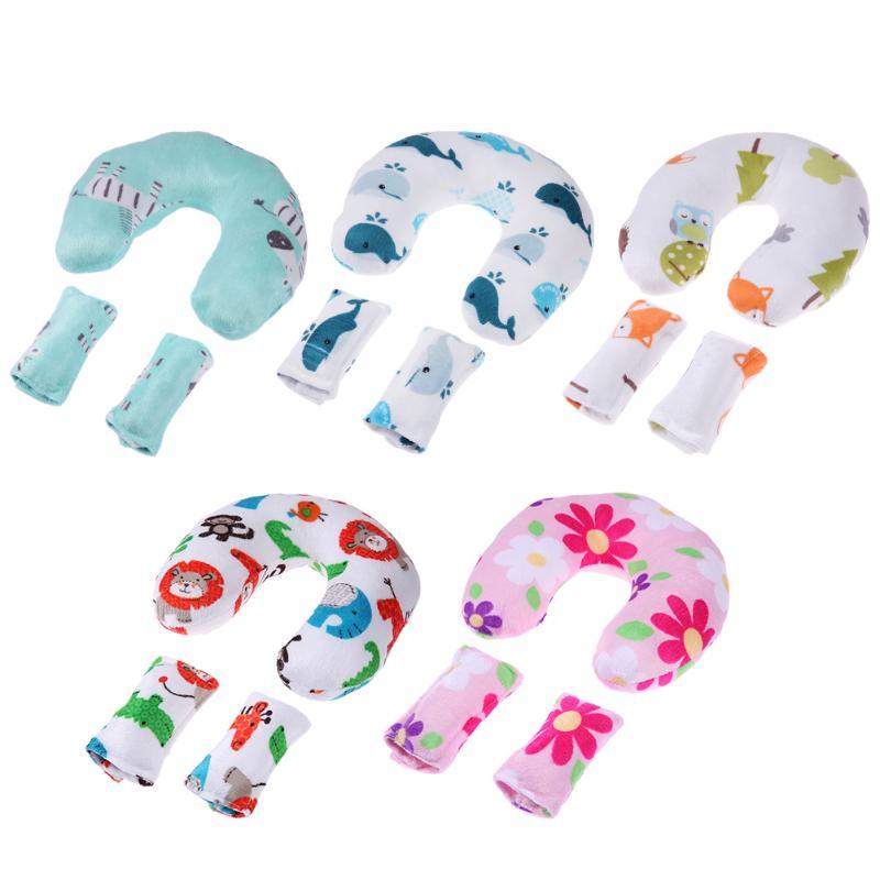 все цены на Baby Nursing Pillows Soft Infant Baby Safe U-Shaped Pillow Head Neck Support Protection Newbron Cotton Cushion 3Pcs/Set