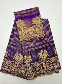 (5yards/lot)2017 new bazin riche getzner fabric in purple with gold embroidery for nigerian party May-22-2017