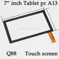 7 7inch Capacitive Panel Touch Screen Digitizer Glass For All Winner A13 Q8 Q88 Tablet PC