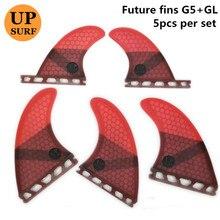 Juego de aletas de fibra de vidrio para tabla de surf, conjunto de aletas para tabla de surf Upsurf Future Fin G5 + GL, 4 unidades