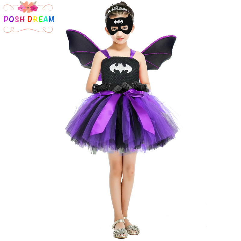 Superhero Girls Wonder Woman Tutu Dress Superman Girl Cosplay ...