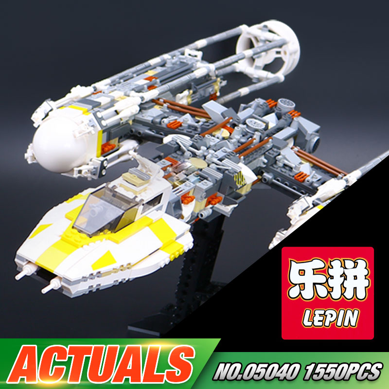 Lepin 05040 Star Series War The Y Set Wing Attack Star Model fighter Building Blocks Assembled bricks Toys Compatible with 10134 lepin 05040 star series y toy wing set attack fighter educational building block assembled brick compatible with war toys 10134