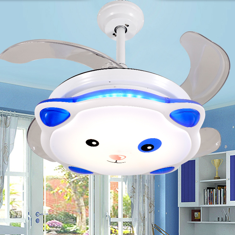 aliexpresscom buy 36 inches ceiling fan light led stealth cartoons children cute pig childrens room ultra quiet fan lights free shipping from reliable