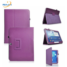 Voltear PU Funda de Piel para Samsung Galaxy Tab 3 P5200 P5210 10.1 pulgadas Litchi patrón Cubierta Protectora de la Tableta de $ number veces + film + pluma