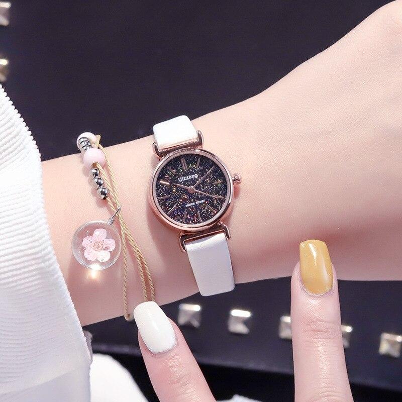 Uhren Freundschaftlich Dropshipping Leder Schwarz & Weiß Einfache Zifferblatt Uhr Mode Casual Frauen Sport Quarz Armbanduhren Geschenk Relogio Feminino